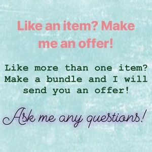 Make offers! Make bundles!